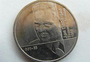 Jan Tinbergen Nobelprijs Munt