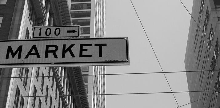 Abstracte markt